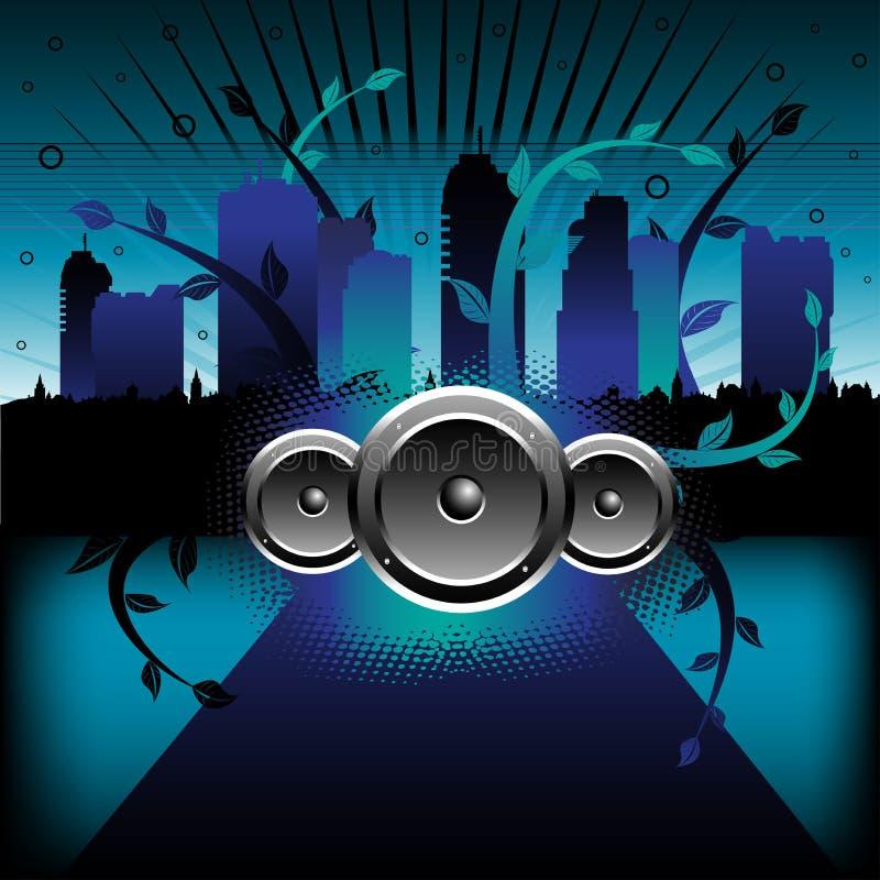 Música en la ciudad ilustración del vector