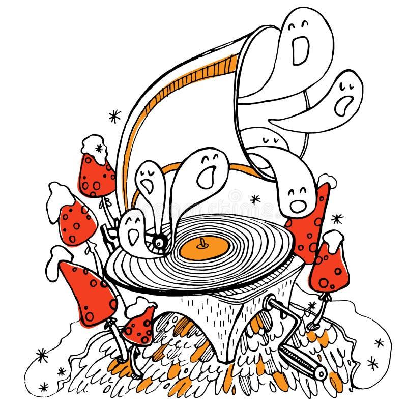 Música estranha foto de stock