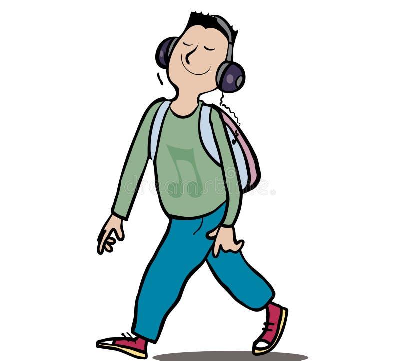 Música feliz stock de ilustración