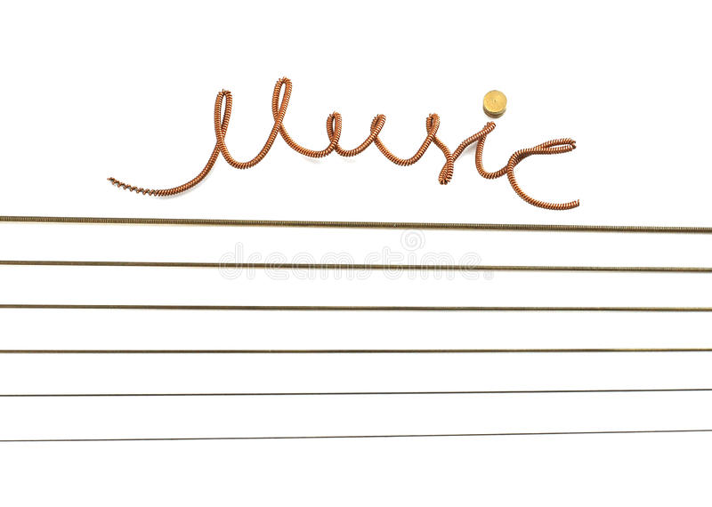 Música a inscrição de uma corda. imagem de stock