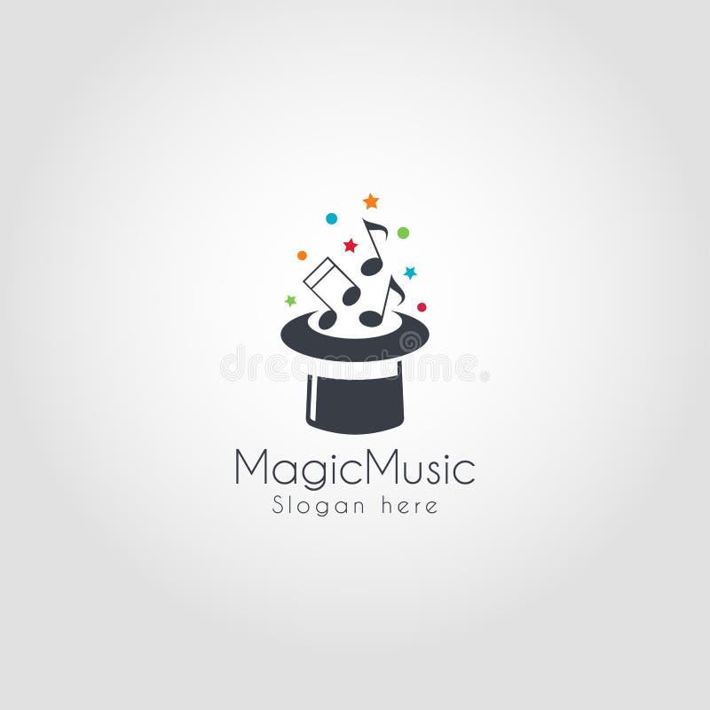 Música mágica Logo Template ilustração do vetor