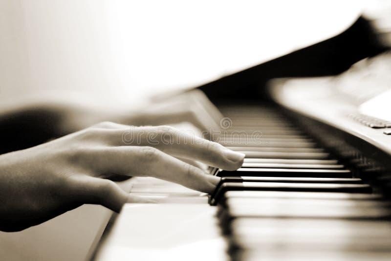 Música macia do piano imagem de stock royalty free