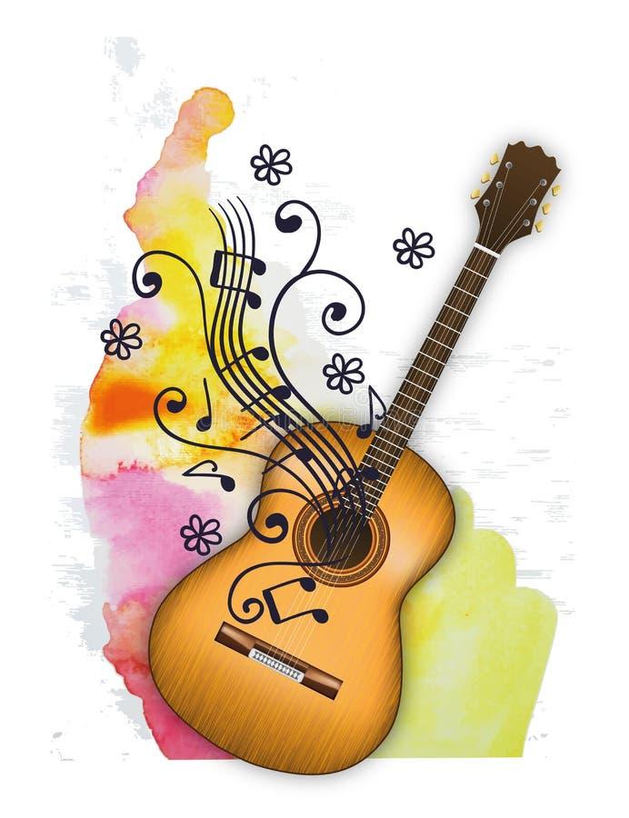 Música Melody Life romântica da guitarra foto de stock