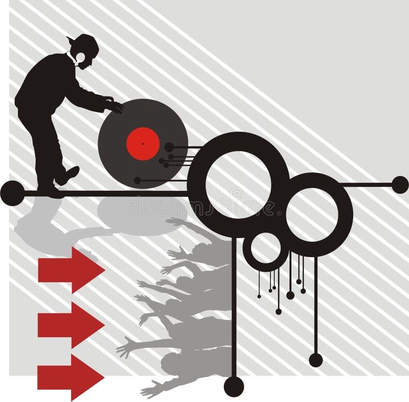 Música moderna ilustração stock