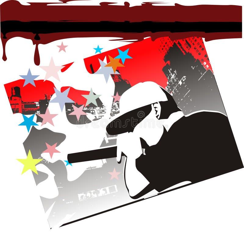 Música moderna ilustração do vetor