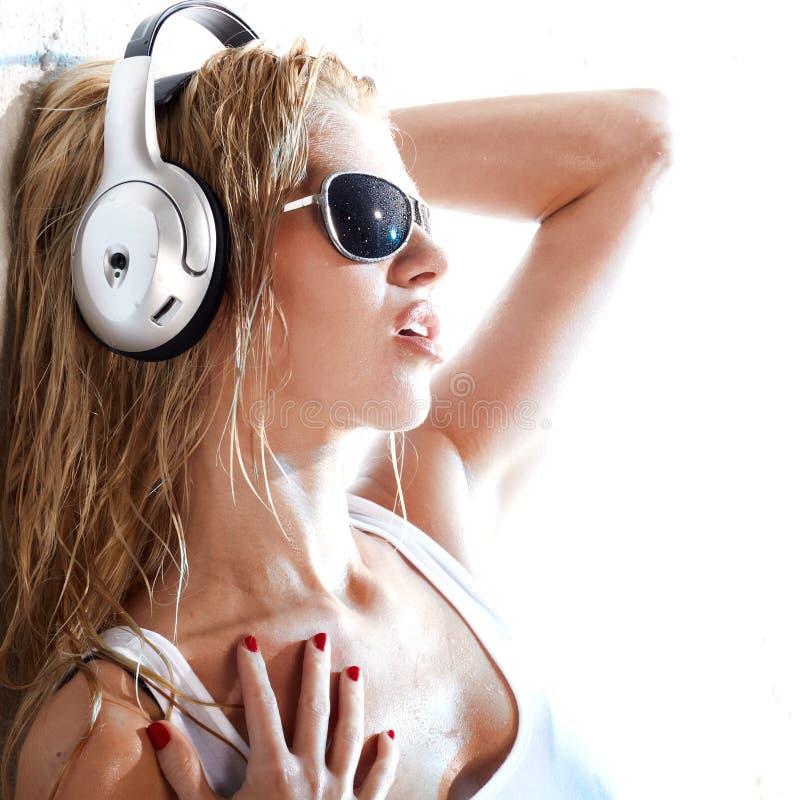 Música molhada imagem de stock