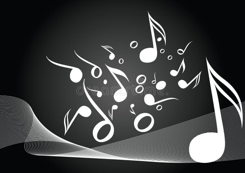 Música negra ilustración del vector