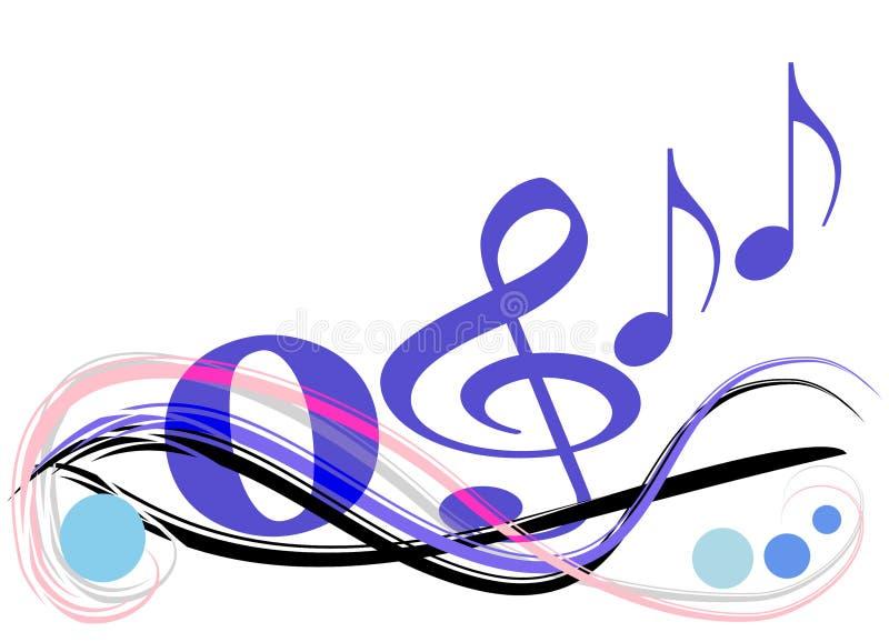 Música no ar ilustração do vetor
