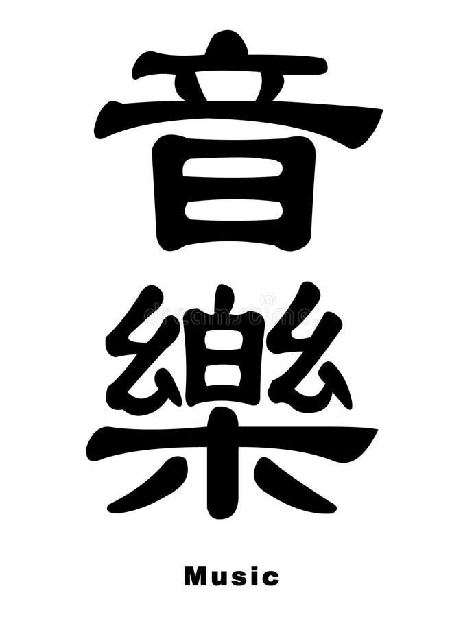 Música no chinês ilustração royalty free