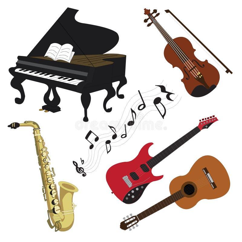 música no clor ilustração royalty free