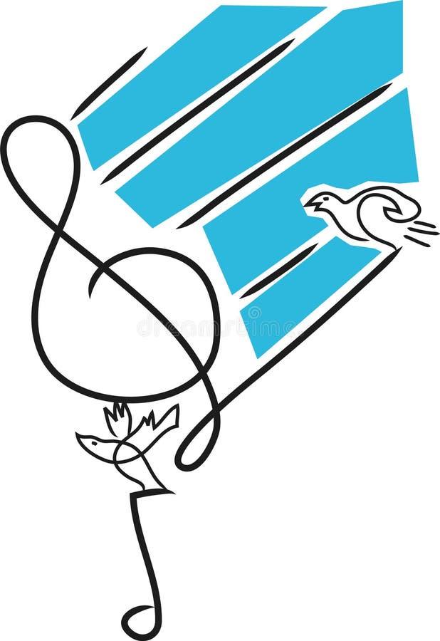 A música nota desenhos ilustração do vetor