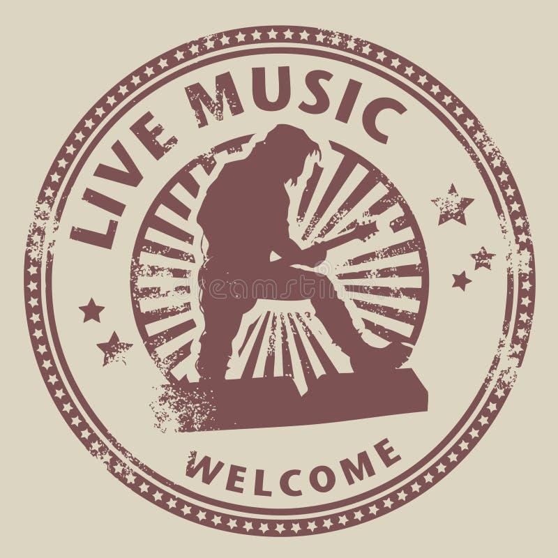 Música a o vivo ilustração stock