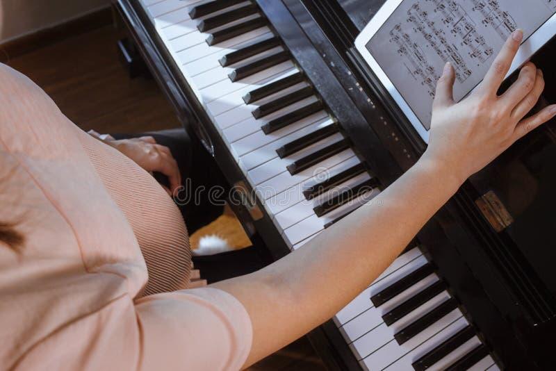 Música para el bebé en el útero fotografía de archivo