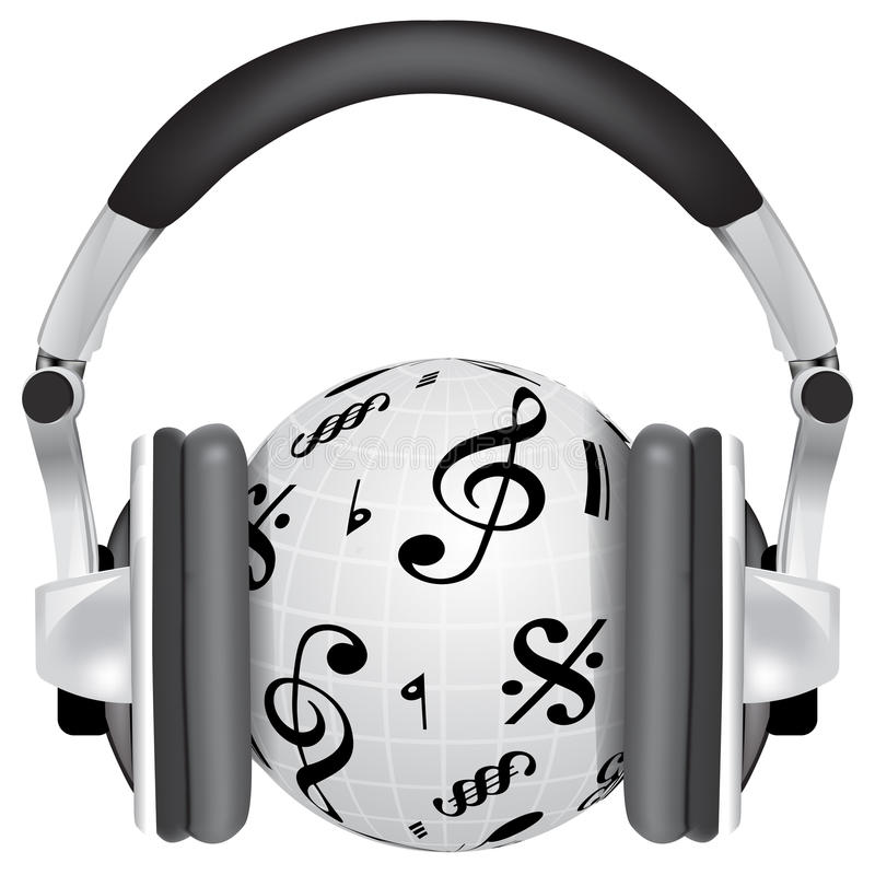 Música para el mundo ilustración del vector
