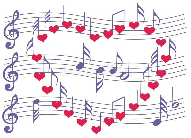 Música para o favorito ilustração do vetor