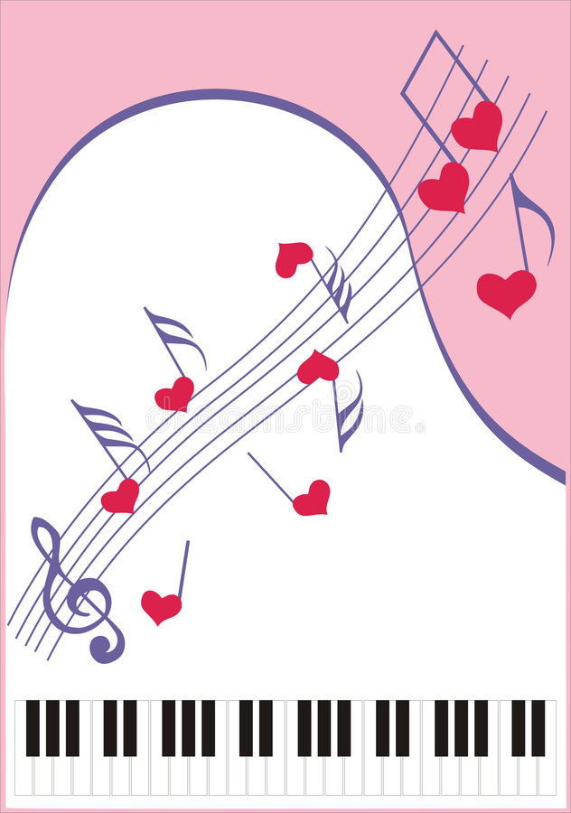 Música para o favorito ilustração royalty free