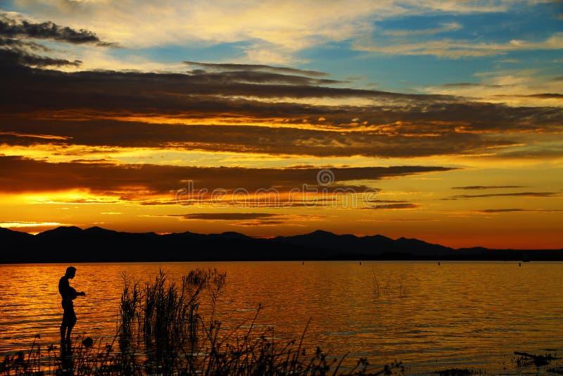 Música pelo por do sol 5 foto de stock
