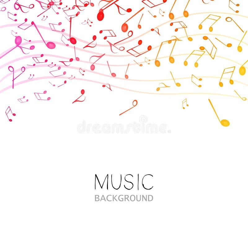 Música, projeto do sumário ilustração stock