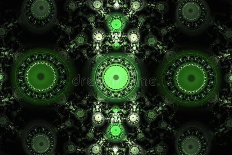 Música psicadélico da galáxia animado do universo do espaço da frequência do fractal ou para algum outro conceito ilustração royalty free