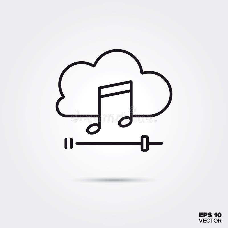 Música que flui a linha ícone do vetor ilustração do vetor