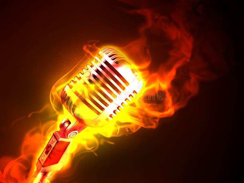 Música quente ilustração do vetor