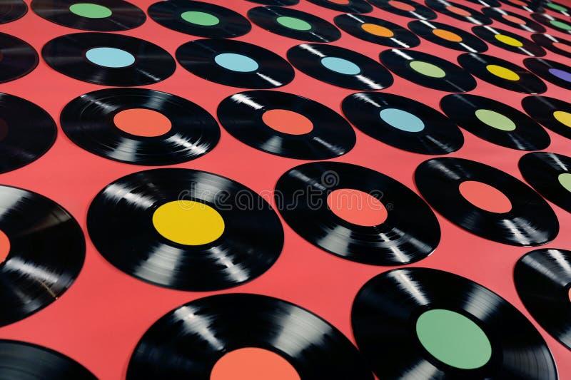 Música - registros de vinil imagem de stock royalty free