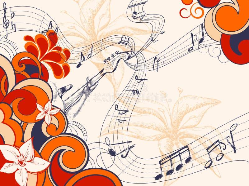 Música retro ilustração do vetor