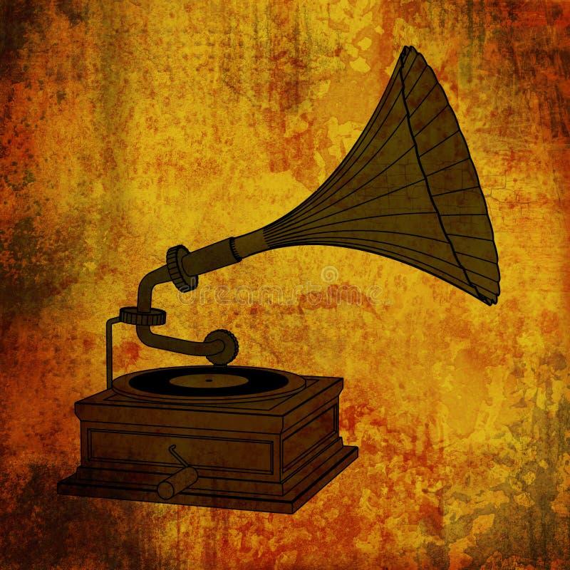Música retro ilustração royalty free