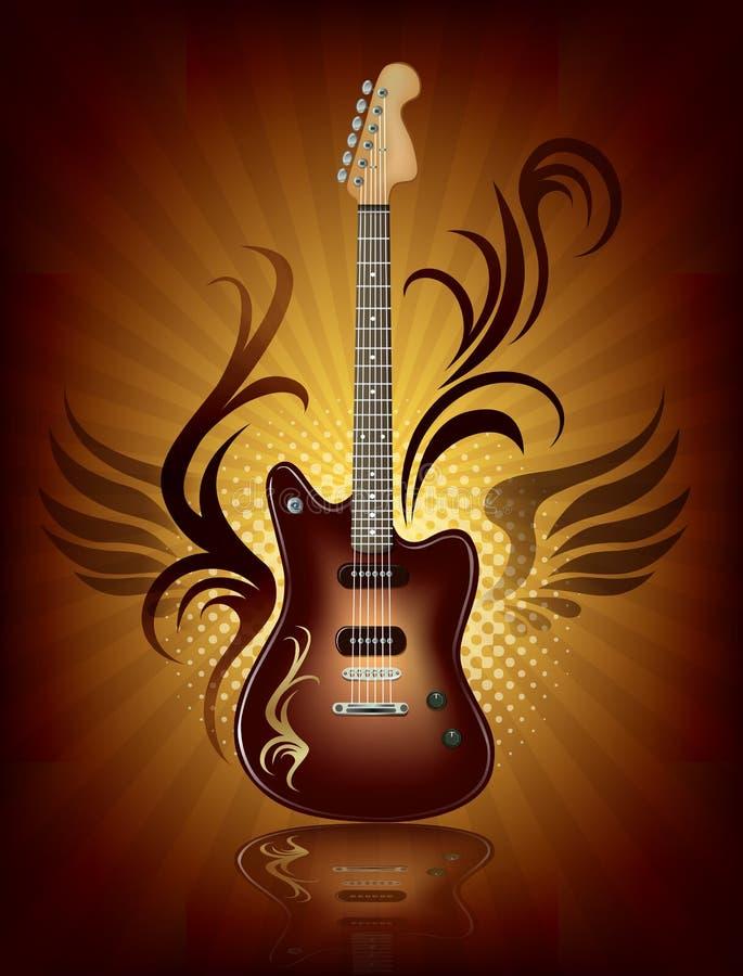 Música rock ilustração royalty free
