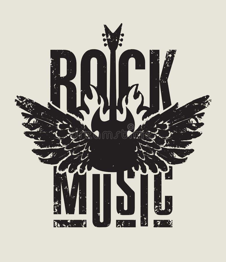 Música rock ilustración del vector