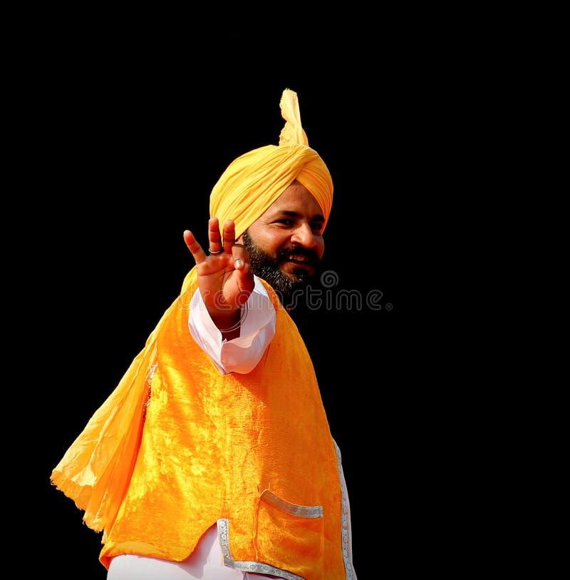 Música tradicional y danza del Punjabi imagen de archivo libre de regalías