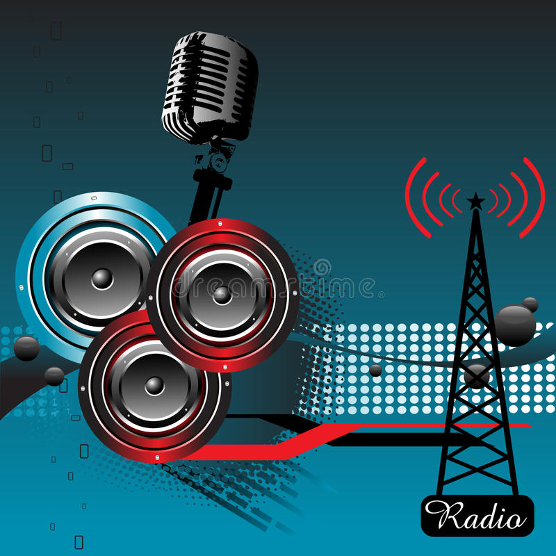 Música a través de la radio libre illustration