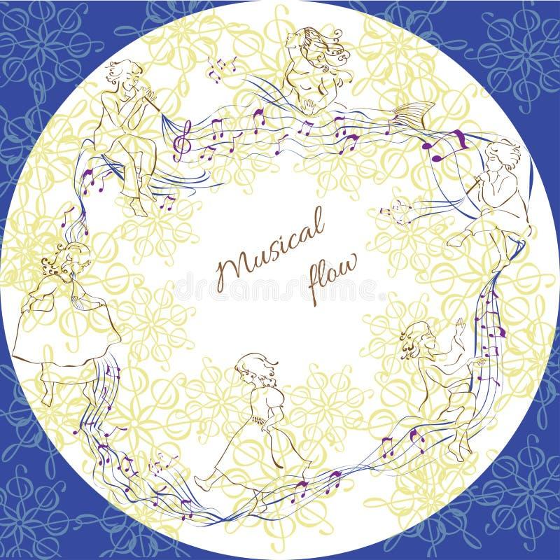 Música y niños de la corriente libre illustration