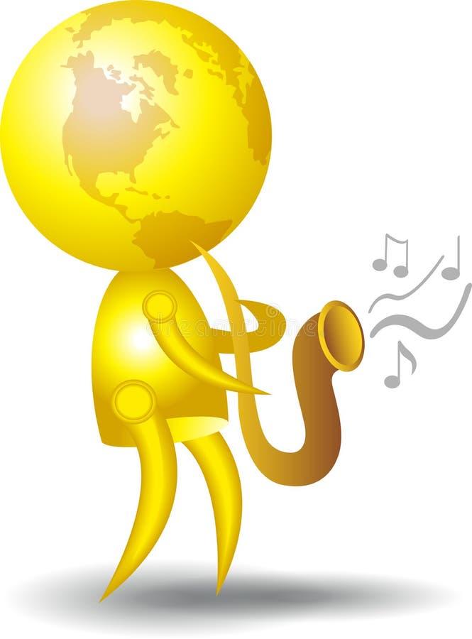 músico ilustração do vetor