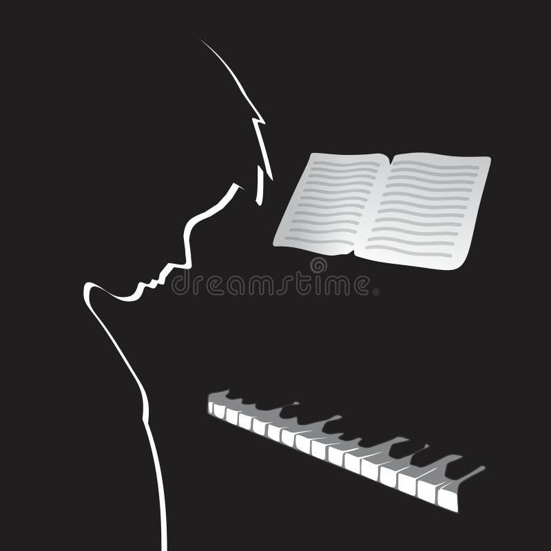 Músico stock de ilustración