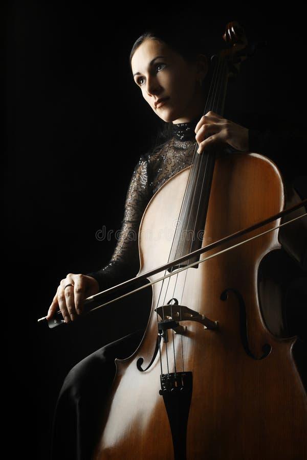 Músico clásico del jugador del violoncelista del violoncelo imágenes de archivo libres de regalías