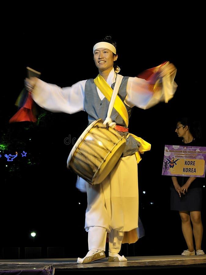 Músico corean del sur foto de archivo