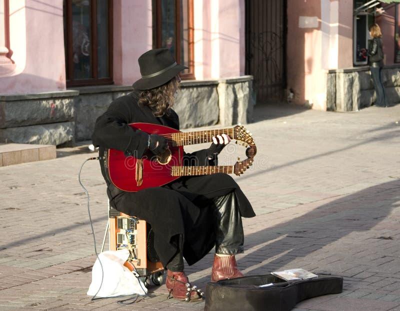 Músico da rua imagem de stock royalty free