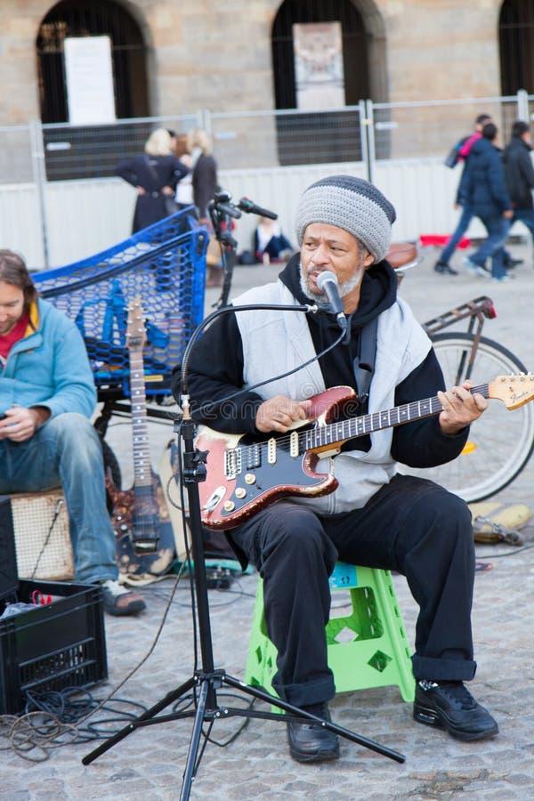 Músico da rua imagens de stock