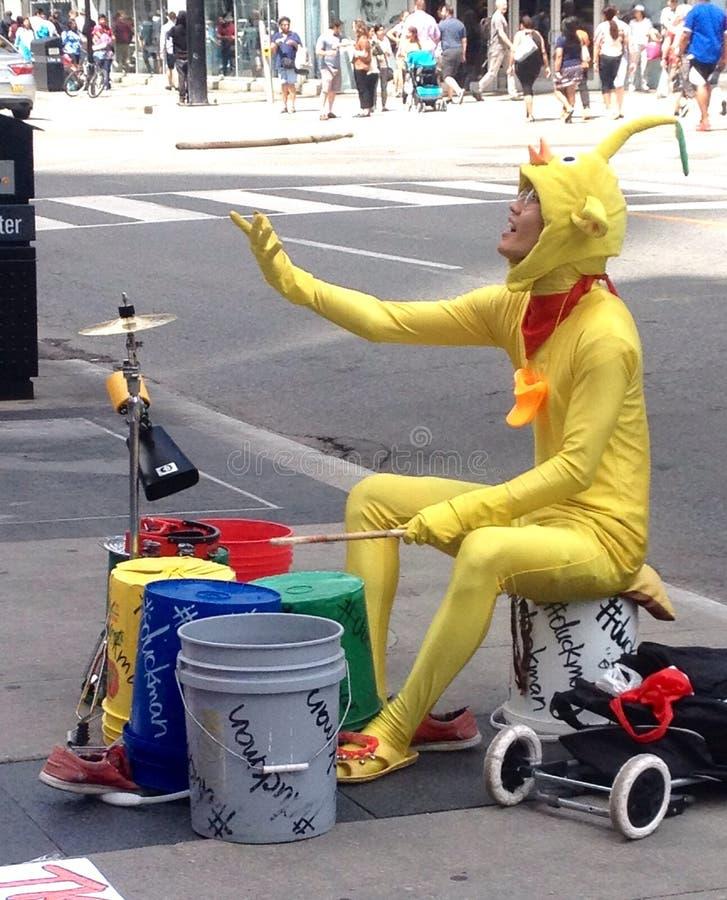 Músico da rua em Toronto imagens de stock