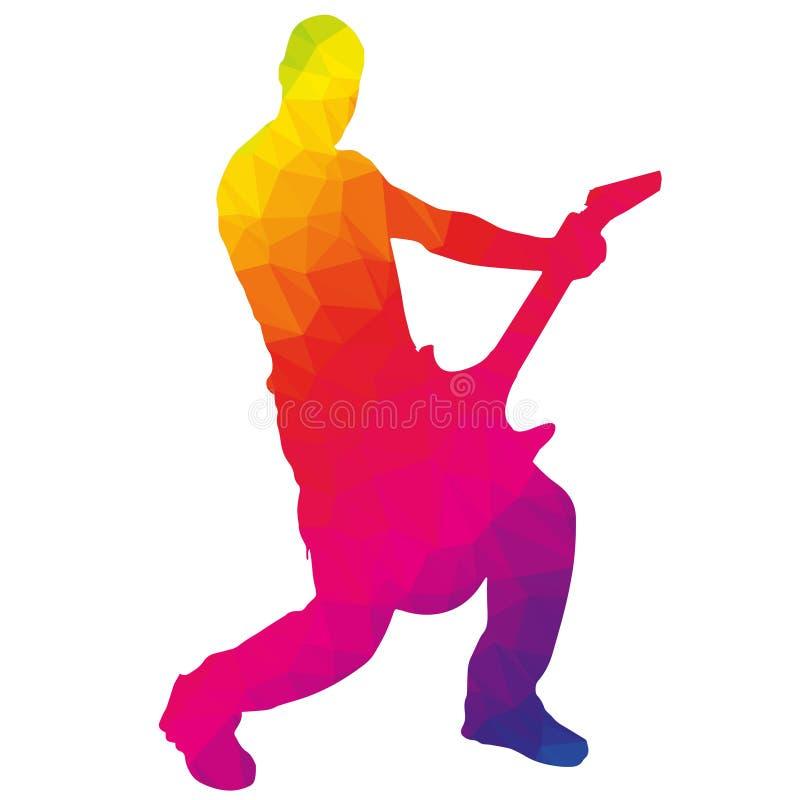 músico da silhueta ilustração do vetor