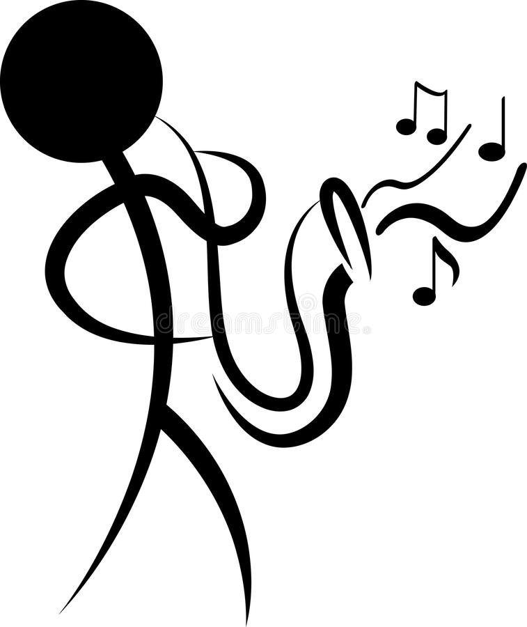 Músico de Absract stock de ilustración