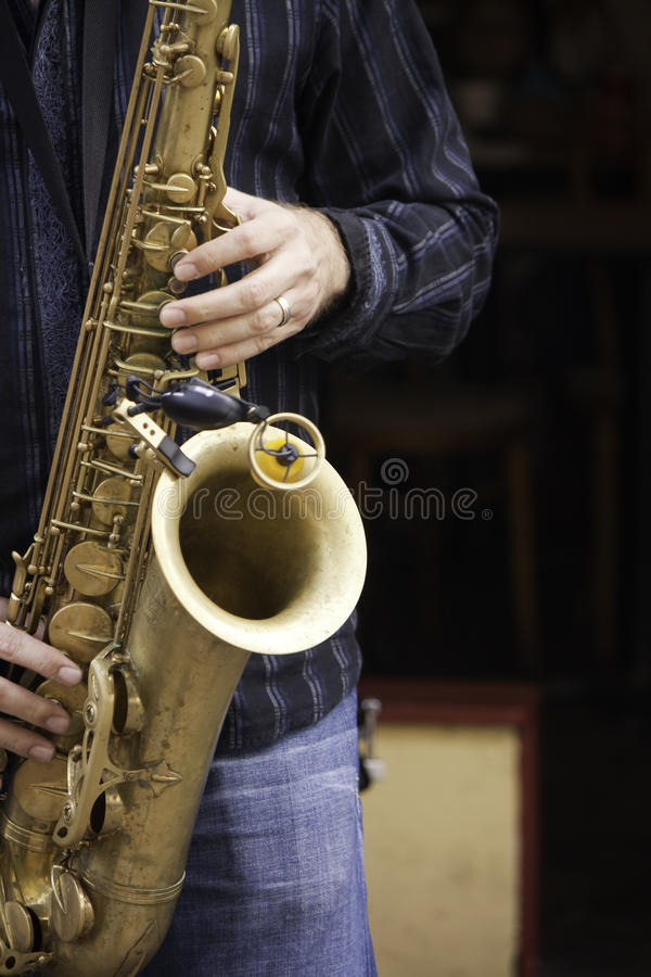 Músico de jazz foto de stock