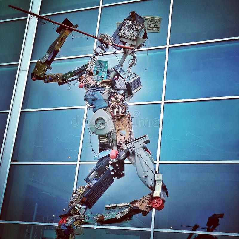 Músico del robot imagen de archivo