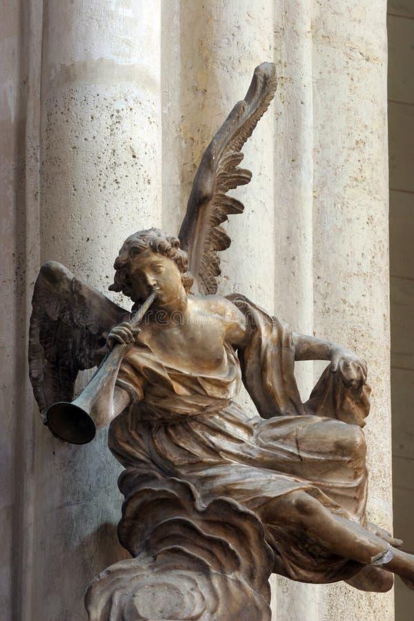 Músico do anjo foto de stock