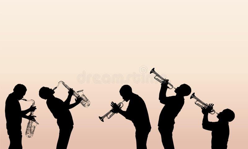 Músico do bronze do jazz ilustração royalty free