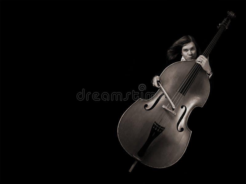 Músico do Contrabass imagens de stock
