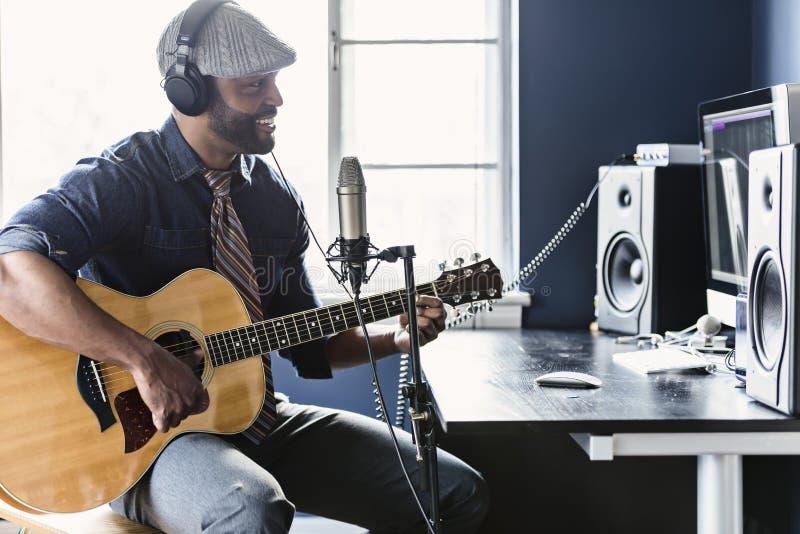 Músico Home Recording fotografía de archivo libre de regalías