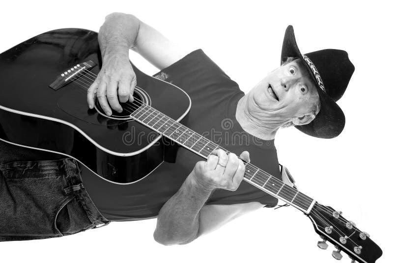 Músico idoso 7 do país do tempo fotografia de stock