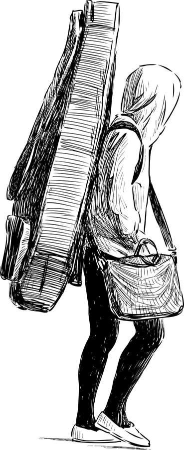 Músico joven ilustración del vector
